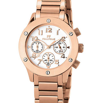 Folli Follie Ladies Ace Rose Gold Watch