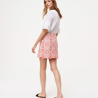 Eyelet Medallion Skirt | LOFT