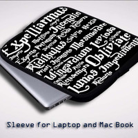 Black Magic Spells Harry Potter Sleeve for Laptop, Macbook Pro, Macbook Air (Twin Sides)