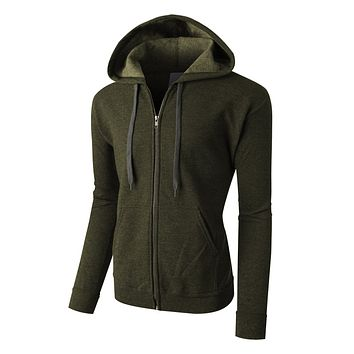 PREMIUM Mens Vintage Soft Fleece Full Zip Up Hoodie Jacket