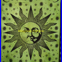 Sun Hippie Hippy Tapestry Wall Hanging Throw Cotton Bed cover Bohemian Bed Decor Bed Spread Ethnic Decorative Art