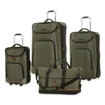 Timberland? Great Meadow 4-Piece Luggage Set in Olive/Black