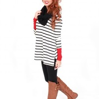 End Of The Line Striped Red Tunic | Monday Dress Boutique