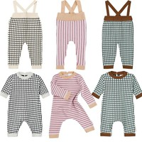 Tiny Cottons 2017 Baby Rompers Boys Girls Cotton Jumpsuits Newborn Baby Clothes Hat Overalls Autumn Winter Clothing Roupas Bebes