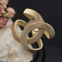 Fashion Designer CC Jewelry Elegent Alloy Wide With Spring Cuff Bracelet Bangles Statement Jewelry BL131