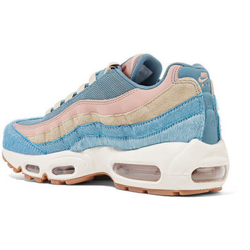 Nike - Air Max 95 calf hair, suede and mesh sneakers