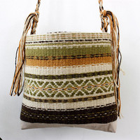 Handmade gypsy bag, handwoven wool bag, handmade unique purse, unique handmade purse, boho purse, boho bag