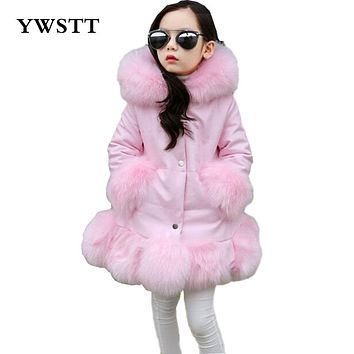 Girls fake fur coat girls Faux Fox Mink Fur Coat Girls Warm Luxury Medium Long Fake Fur Coats Coat Warmer jacket