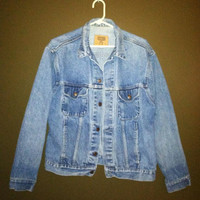 1980s GAP JEAN JACKET hipster denim jacket size large