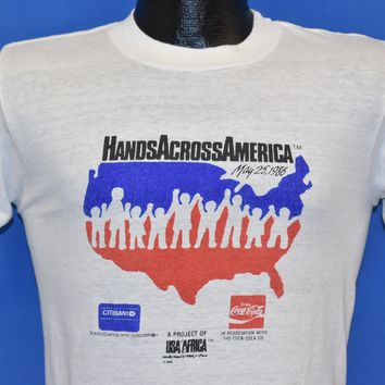 80s Hands Across America Coca Cola t-shirt Small