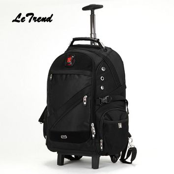 LeTrend Trolley Shoulder Backpack Rolling