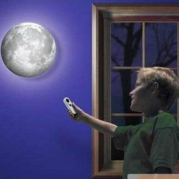 Indoor LED Wall Moon Lamp With Remote Control Relaxing Healing Moon Light Free Shipping