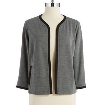 Jones New York Knit Open Front Blazer