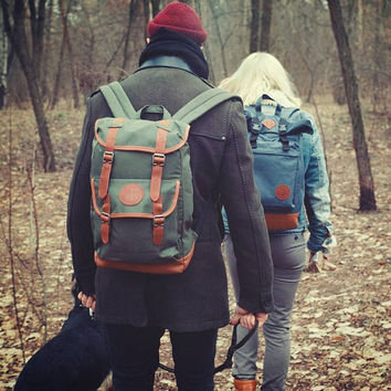 Canvas backpack, Mens Backpack, Laptop Backpack, Hipster Backpack, Travel Backpack, Gift For Men, Rucksack, Laptop Bag, Waterproof Backpack