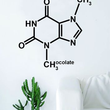Chocolate Molecule Science Design Decal Sticker Wall Vinyl Art Home Room Decor Teacher School Educational Classroom Atom Funny