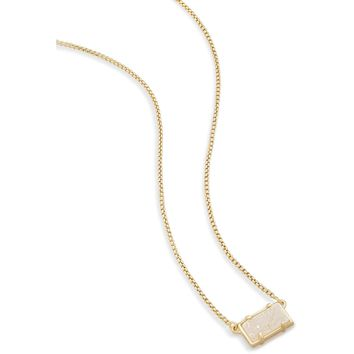 Kendra Scott: Pattie Gold Pendant Necklace in Iridescent Drusy