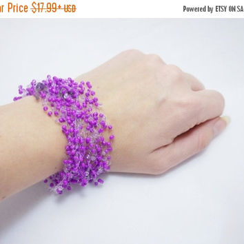 SALE Purple bracelet amethyst bracelet violet bracelet air bracelet every day multistrand bracelet bracelet for women gift idea