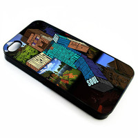 Minecraft Steve Typography | iPhone 4/4s 5 5s 5c 6 6+ Case | Samsung Galaxy s3 s4 s5 s6 Case |