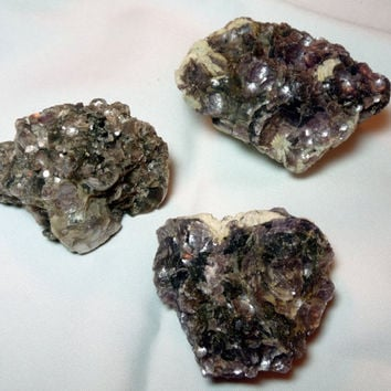 Botryoidal Lepidolite Mica - 3 pieces
