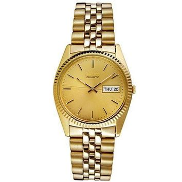 Seiko Mens Goldtone Bracelet Watch