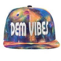 Cosmic Explosion Snapback Rave Hat Blue