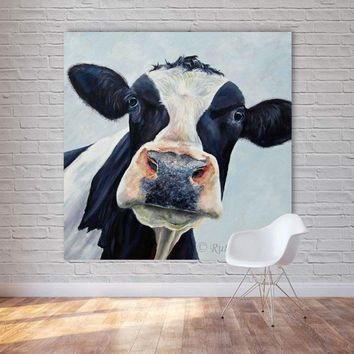 Canvas Painting Cow Wall Pictures For living room Modern oil painting Wall Art Print Posters Decorative pictures Unframed Art