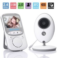 Wireless Baby Monitor 2.4 inch LCD Audio Security Baby Camera Digital Infants Babysitter Night Vision Temperature Monitoring ~