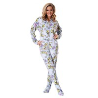 Tweety Bird Adult Footed Onesuit Pajamas
