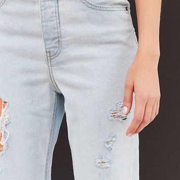 BDG Girlfriend High-Rise Jean - Light Blue Slash - Urban Outfitters