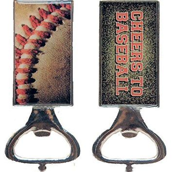 All For Giving Cheers to Baseball Bottle Opener Silver