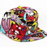 Hater Hot Dog Ice Cream Snapback Hat