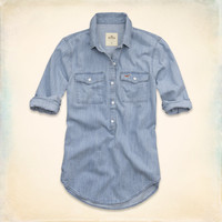 Leucadia Denim Popover Shirt