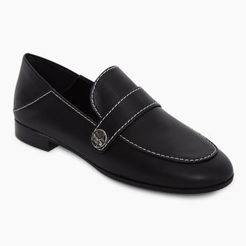 Cindy Convertible Slip On Loafers - Ebony Black