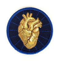 Heart Of Gold Iron-On Patch
