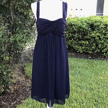 IN STUDIO Women's Deep Purple Chiffon Midi Formal Dress Size 10