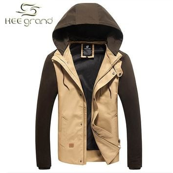 Men's Patchwork Hooded Outdoor Fashion Coat Up To 5XL