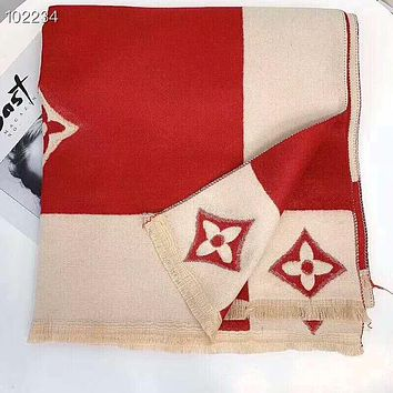 Louis Vuitton LV Winter Newest Popular Cashmere Cape Scarf Scarves Shawl Accessories