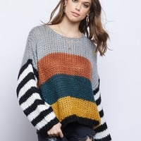 Mix Up Knit Sweater