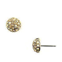 Cubic Zirconia Stud Earrings - Gold