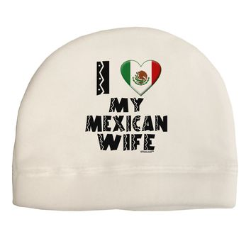 I Heart My Mexican Wife Child Fleece Beanie Cap Hat by TooLoud