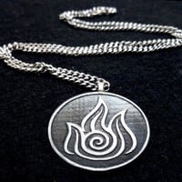 Avatar Fire Bender Necklace by boxinghobo on Etsy