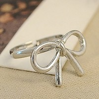 Cute Wired Bowtie Rings for Women