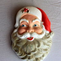 Styrofoam Santa Face Wall Decor : vintage