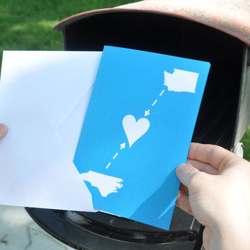 Long Distance Relationship Map Card