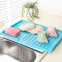 1PC Sink Drain And Plastic Filter Plate Storage Rack Kitchen Shelving Rack Drain Board Dish Drainer The Goods For Kitchen