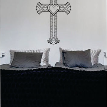 Cross Version 4 Religious Decal Sticker Wall Vinyl Art Home Room Decor