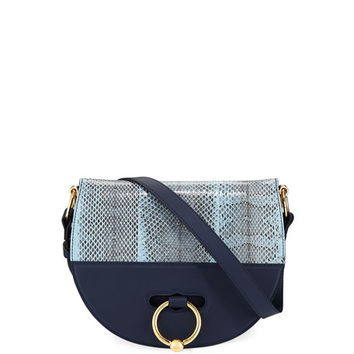 J.W. Anderson Leather & Ayers Snakeskin Latch Saddle Bag