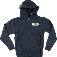 Thrasher Skate Mag Zip Hoody/Sweater Small Navy