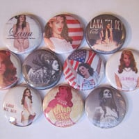 Lana Del Rey Pinback Buttons Badges Pins (pack of 10)