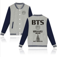 BTS handsome plus baseball clothing